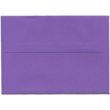 JAM Paper® A7 Invitation Envelopes, 5.25 x 7.25, Brite Hue Violet Purple Recycled, 250/Pack (80278H)