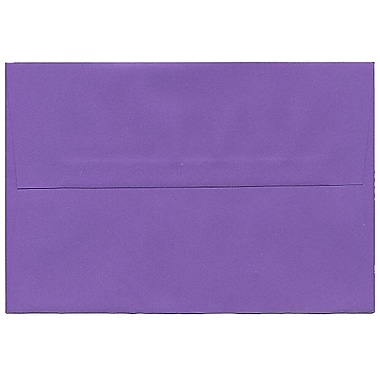 JAM Paper® A8 Invitation Envelopes, 5.5 x 8.125, Brite Hue Violet Purple Recycled, 250/Pack (80286H)