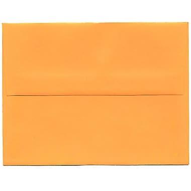 JAM Paper – Enveloppes BriteHue A2 en papier recyclé, orange intense, 250/paquet