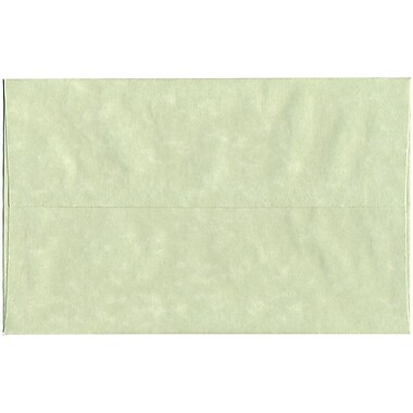 JAM Paper® A10 Invitation Envelopes, 6 x 9.5, Parchment Green Recycled, 250/Pack (82143H)