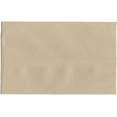JAM Paper® A10 Invitation Envelopes, 6 x 9.5, Sandstone Ivory Recycled, 250/Pack (83736H)