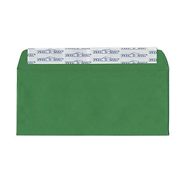 JAM Paper® #10 Business Envelopes, Peel and Seal Closure, 4 1/8 x 9.5, Brite Hue Christmas Green Recycled, 500/Pack (86555H)