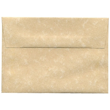 JAM Paper® 4bar A1 Envelopes, 3.63 x 5 1/8, Parchment Brown Recycled, 250/Pack (900755332H)