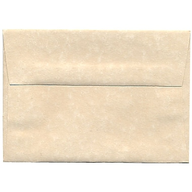 JAM Paper® 4bar A1 Envelopes, 3.63 x 5 1/8, Parchment Natural Recycled, 250/Pack (900795107H)