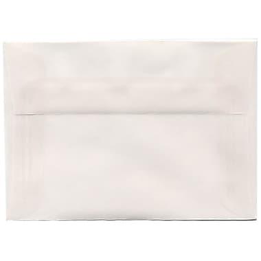 JAM Paper® 4bar A1 Envelopes, 3.63 x 5 1/8, Translucent Vellum Clear, 250/Pack (900797921H)