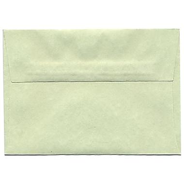 JAM Paper – Enveloppes A1 en papier recyclé, papier parchemin vert, 250/paquet