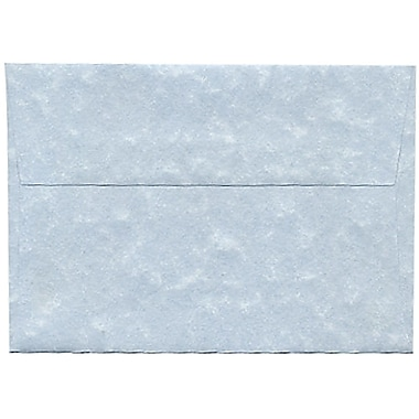 JAM Paper® 4bar A1 Envelopes, 3.63 x 5 1/8, Parchment Blue Recycled, 250/Pack (900877844H)