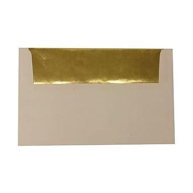 JAM PaperMD – Enveloppes A10 à l'intérieur en papier métallisé, blanc/doré, 50/paquet