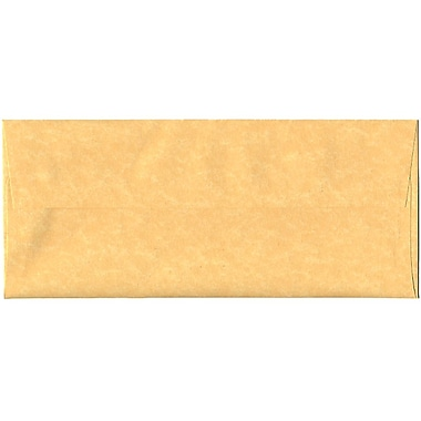JAM Paper® #10 Business Envelopes, 4 1/8 x 9.5, Parchment Antique Gold Yellow Recycled, 500/Pack (900906635H)