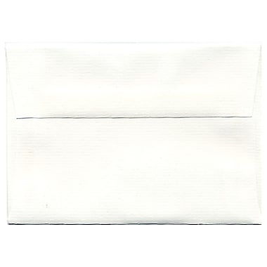 JAM Paper® 4bar A1 Envelopes, 3.63 x 5 1/8, Strathmore Bright White Laid, 250/Pack (900911330H)