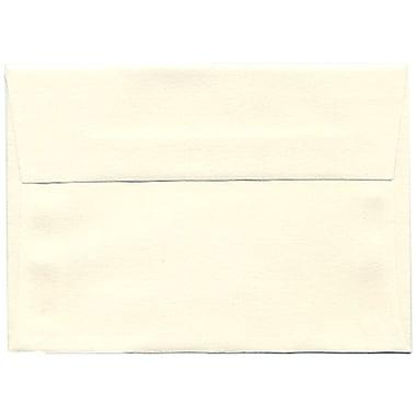 JAM Paper® 4bar A1 Envelopes, 3.63 x 5 1/8, Strathmore Natural White Laid, 250/Pack (900913182H)