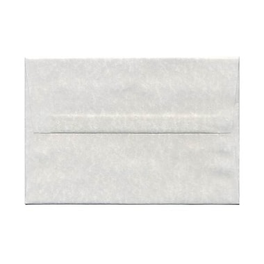 JAM Paper® A8 Invitation Envelopes, 5.5 x 8.125, Parchment Pewter Grey Recycled, 250/Pack (91304H)