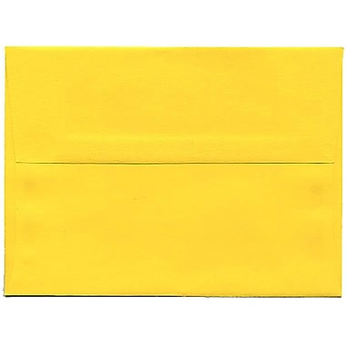 JAM Paper® A6 Invitation Envelopes, 4.75 x 6.5, Brite Hue Yellow Recycled, 250/Pack (94531H)