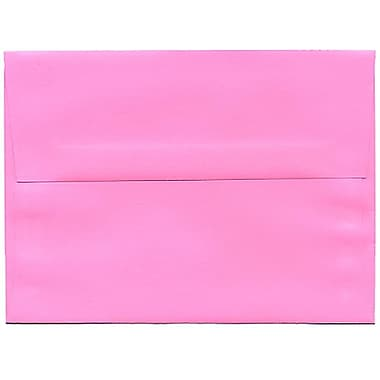 JAM Paper® A6 Invitation Envelopes, 4.75 x 6.5, Brite Hue Ultra Pink, 250/Pack (94606H)