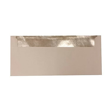JAM Paper® #10 Foil Lined Envelopes, 4 1/8 x 9.5, White with Silver Lining, 500/Pack (95157H)