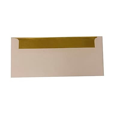 JAM Paper® #10 Foil Lined Envelopes, 4 1/8 x 9.5, White with Gold Lining, 500/Pack (95165H)