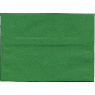 JAM Paper® A7 Invitation Envelopes, 5.25 x 7.25, Brite Hue Green Recycled, 250/Pack (95617H)