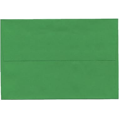 JAM Paper® A8 Invitation Envelopes, 5.5 x 8.125, Brite Hue Green Recycled, 250/Pack (95625H)
