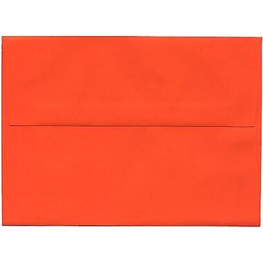 JAM Paper® A7 Invitation Envelopes, 5.25 x 7.25, Brite Hue Orange Recycled, 250/Pack (95666H)