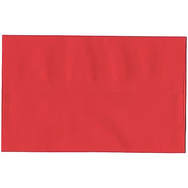 JAM Paper® A10 Invitation Envelopes, 6 x 9.5, Brite Hue Red Recycled, 250/Pack (96078H)