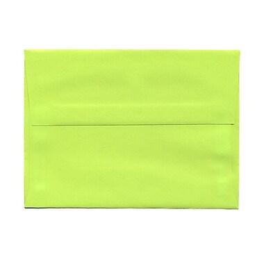 JAM Paper – Enveloppes BriteHue A7 en papier recyclé vert lime intense, 250/paquet