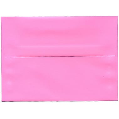 JAM Paper® A7 Invitation Envelopes, 5.25 x 7.25, Brite Hue Ultra Pink, 250/Pack (96268H)