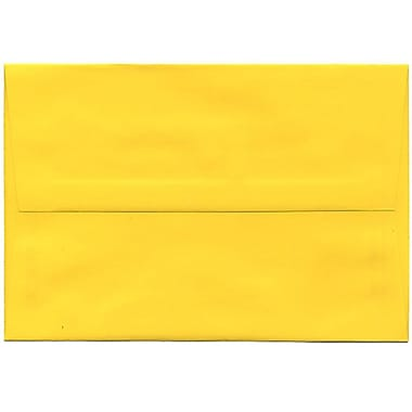 JAM Paper® A8 Invitation Envelopes, 5.5 x 8.125, Brite Hue Yellow Recycled, 250/Pack (96334H)