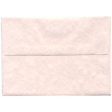 JAM PaperMD – Enveloppes A7 en papier recyclé, papier parchemin rose glace, 250/paquet