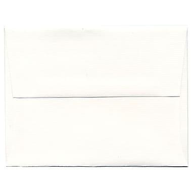 JAM Paper® A2 Invitation Envelopes, 4.38 x 5.75, Strathmore Bright White Laid, 250/Pack (99118H)