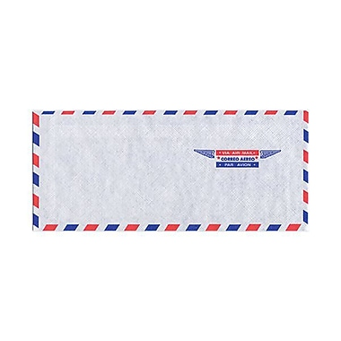 JAM Paper® Airmail #10 Envelopes, 4 1/8 x 9.5, 500/Pack (A35532H)