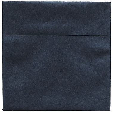 JAM Paper® 6.5 x 6.5 Square Envelopes, Stardream Metallic Anthracite Black, 50/Pack (GCST506I)