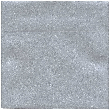 JAM Paper® 6.5 x 6.5 Square Envelopes, Stardream Metallic Silver, 50/Pack (GCST509I)