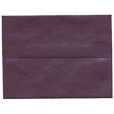 JAM Paper® A2 Invitation Envelopes, 4.38 x 5.75, Stardream Metallic Ruby Purple, 50/Pack (GCST604I)