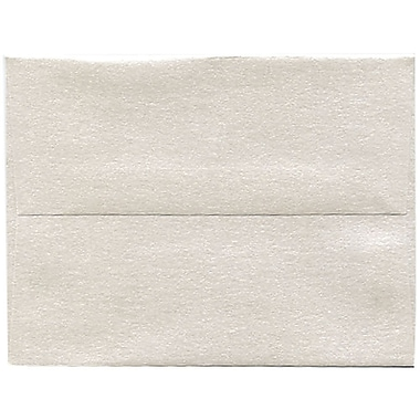 JAM Paper® A2 Invitation Envelopes, 4.38 x 5.75, Stardream Metallic Quartz, 50/Pack (GCST607I)