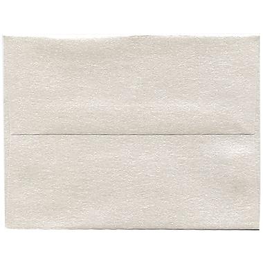 JAM Paper® A2 Invitation Envelopes, 4.38 x 5.75, Stardream Metallic Quartz, 250/Pack (GCST607H)
