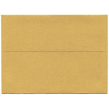 JAM Paper® A6 Invitation Envelopes, 4.75 x 6.5, Stardream Metallic Gold, 250/Pack (GCST658H)
