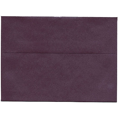 JAM Paper® A7 Invitation Envelopes, 5.25 x 7.25, Stardream Metallic Ruby Purple, 50/Pack (GCST704I)