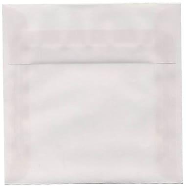 JAM PaperMD – Enveloppes carrées translucides de 6 po, ton clair, 50/paquet