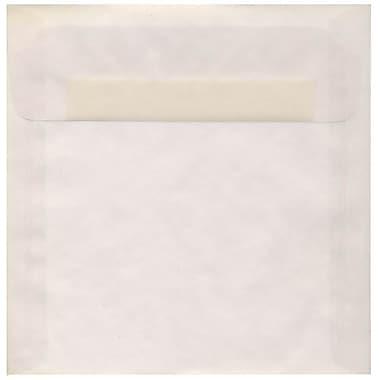 JAM Paper – Enveloppes carrées translucides, 8,5 x 8,5 po, transparent, 250/paquet