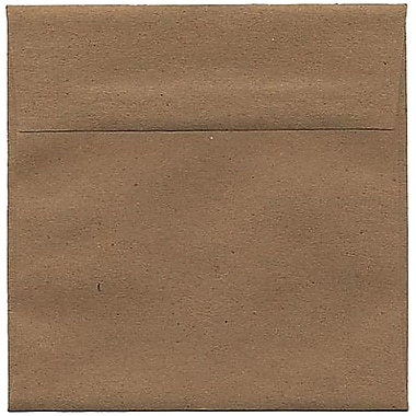 JAM Paper® 6 x 6 Square Envelopes, Brown Kraft Paper Bag Recycled, 250/Pack (LEKR502H)