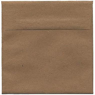 JAM Paper – Enveloppes carrées 6 x 6 po recyclées de sacs en papier Kraft brun, 250/pqt
