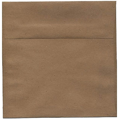 JAM Paper® 8.5 x 8.5 Square Envelopes, Brown Kraft Paper Bag Recycled, 50/Pack (LEKR505I)