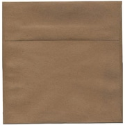 JAM Paper® 8.5 x 8.5 Square Envelopes, Brown Kraft Paper Bag Recycled, 50/pack (LEKR505I)