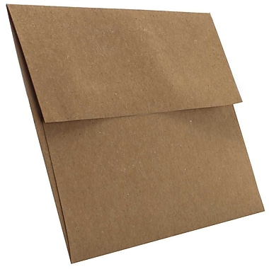 JAM Paper® A6 Invitation Envelopes, 4.75 x 6.5, Brown Kraft Paper Bag Recycled, 250/Pack (LEKR650H)