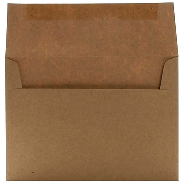 JAM Paper® A7 Invitation Envelopes, 5.25 x 7.25, Brown Kraft Paper Bag Recycled, 250/Pack (LEKR700H)