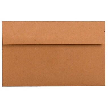 JAM Paper® A10 Invitation Envelopes, 6 x 9.5, Brown Kraft Paper Bag Recycled, 250/Pack (LEKR850H)