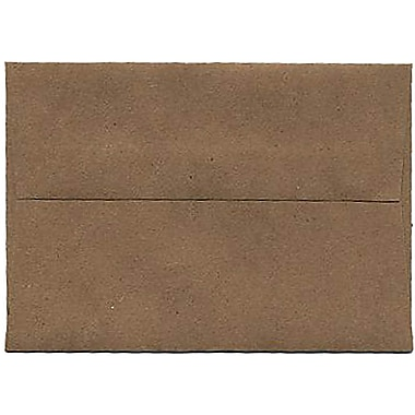 JAM Paper® 4bar A1 Envelopes, 3.63 x 5 1/8, Brown Kraft Paper Bag Recycled, 250/Pack (LEKR900SFH)
