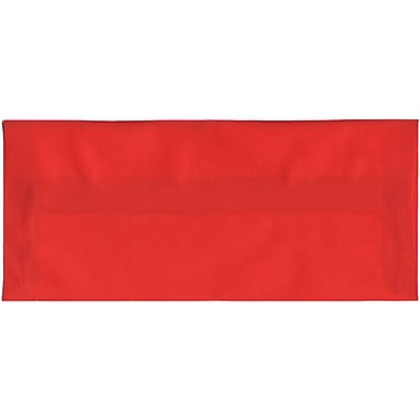 JAM Paper® #10 Business Envelopes, 4 1/8 x 9.5, Red Translucent Vellum, 500/Pack (PACV355H)