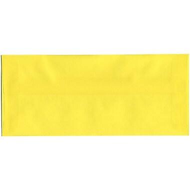 JAM Paper® #10 Business Envelopes, 4 1/8 x 9.5, Yellow Translucent Vellum, 500/Pack (PACV356H)