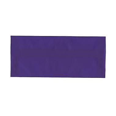 JAM Paper® #10 Business Envelopes, 4 1/8 x 9.5, Purple Translucent Vellum, 500/Pack (PACV357H)